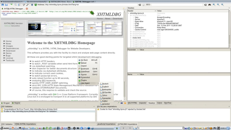 XHTMLDBG Screenshot 4